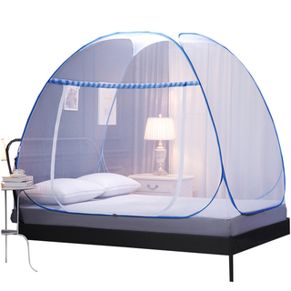 New Design Yurt Encryption Not Need To Installation Foldable Full Cover Bed Net Double Size Bed Full Cover Mosquito Net