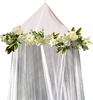 Bed Canopy Mosquito Net For Girls Kids Baby With Cream Rose And Ivy Garland