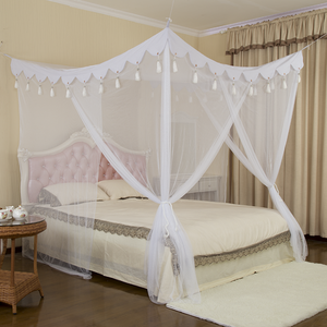 Good Quality Quadrate Bed Mosquito Net with Lace