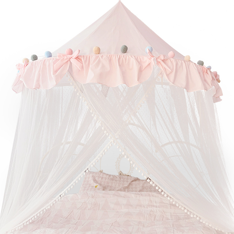 2020 New Style Not Need To Installation Dome Tent Bed Curtain Indoor Home Princess Bed Canopy Mosquito Net For Girl Child Bed