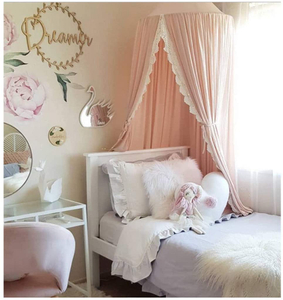 Pink Princess Children Mosquito Net Reading Corner Circular Bed Canopy