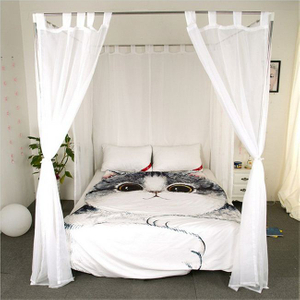 High Quality Quadrate Queen Canopy Bed Mosquito Curtain