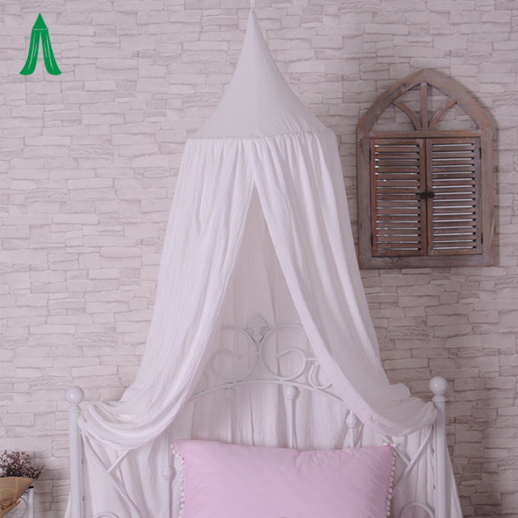 Kids Playing Room Reading Corner Tent Decoration Wrinkled Cotton Bed Canopy