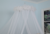 Full Size Conical Mosquito Net Canopy with Flower Lack