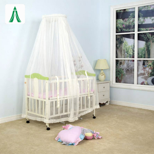 2020 New Design White Lace Side Bunchy Top Circular Baby Mosquito Net