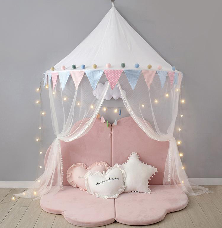 Fashion Cute Beautiful Princess Bowknot Bed Canopy Baby Mosquito Net