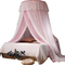 Luxury Pink Lace Led Lights King Queen Size Dome Bed Canopies Princess Bedroom Hanging Mosquito Nets
