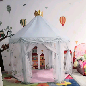 Crown Princess Tent Girl Large Theater Children's Castle Game Tent With Star Light Toy Children's Indoor And Outdoor Games