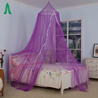 Purple Princess Mosquito Net Bed Canopy With Ribbon