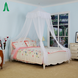 Home Use Decoration Indoor Bed Mosquito Net Canopy With Square Top