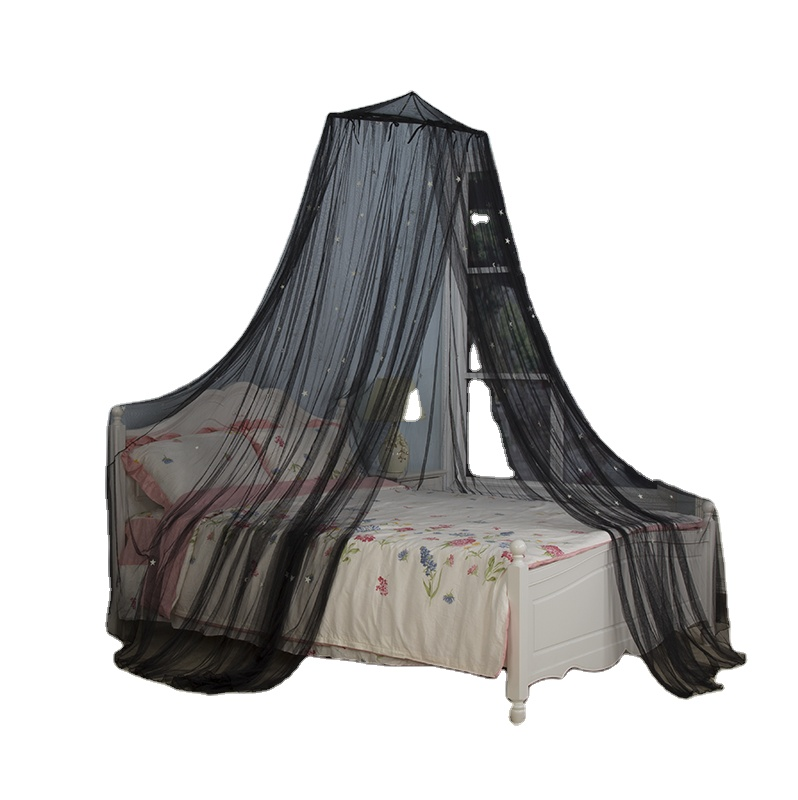 2020 Best-selling Fluorescent Stars Black Mysterious Hanging Mosquito Net