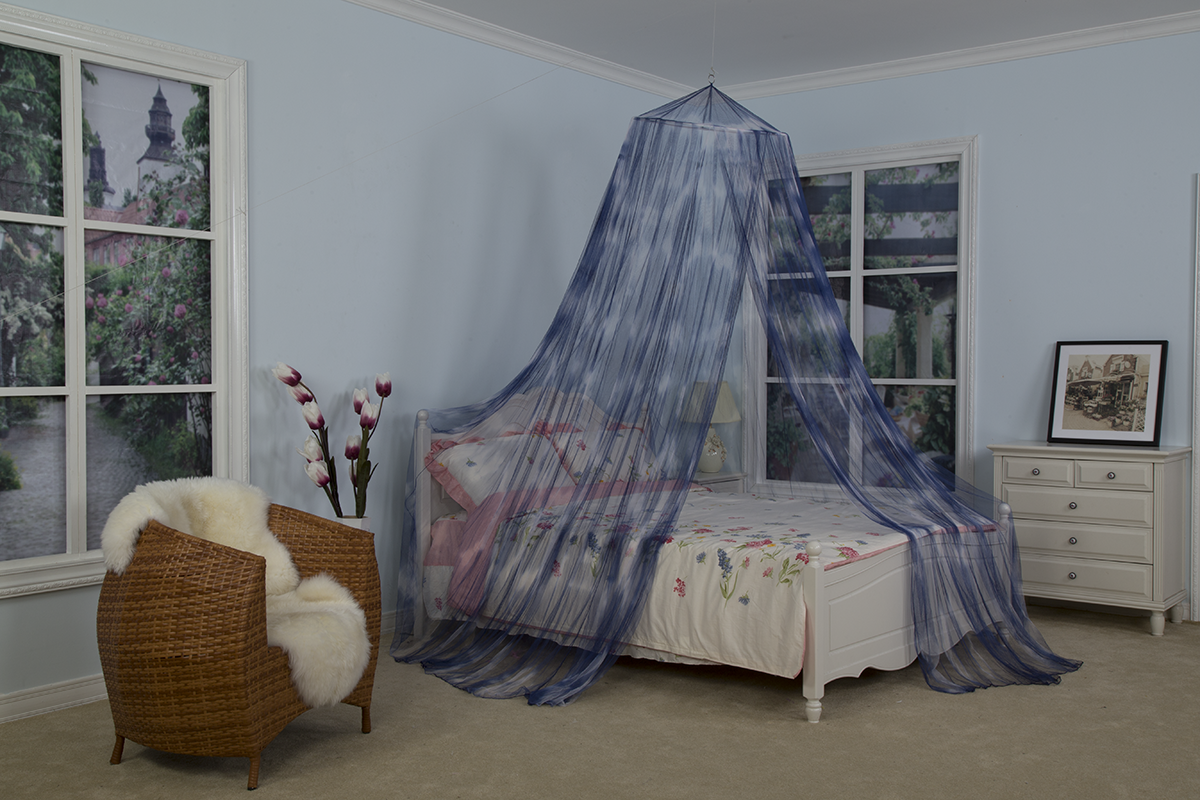100% Polyester Tie Dye Design Hanging Bed Canopy Pretty Mosquito Nets