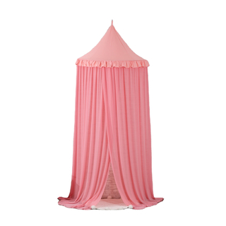 Comfortable Pink Princess Flower Decor Kids Play Toys Tents Hanging Bed Canopies For Girls