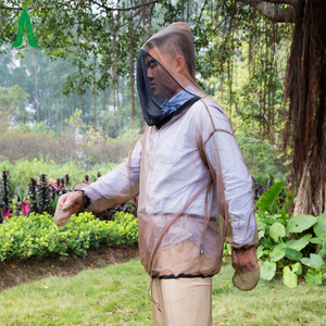 Polyester mosquito net jacket with head insect net body suits
