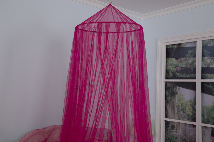 Hanging Umbrella Girls Bed Rose Red Color Canopy Mosquito Protected Net