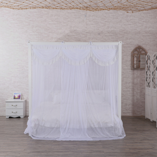 Good Quality White Flower Lace Rectangle King Size Hotel Bedroom Mosquito Bed Nets For Double Bed