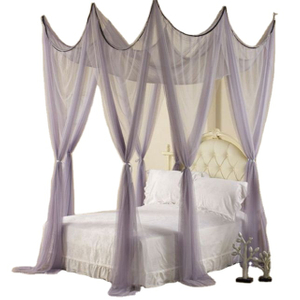 Gauze Big Gray Palace Princess Square Top Bed Curtain Mosquito Net