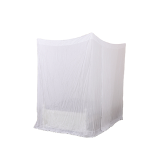 Rectangular Fine Mesh Mosquito Net for Double Bed, 4 Openings Insect Protection Repellent