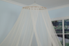 King Size Bed Canopy, Ivory Mosquito Net for Indoor Outdoor, Camping Or Bedroom Fit A King Size Bed