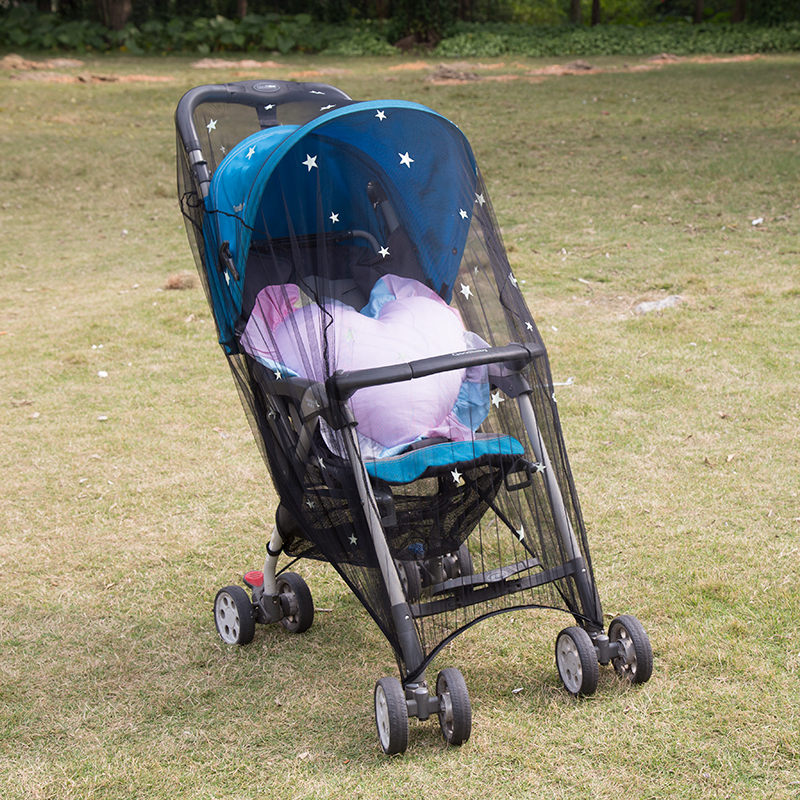 Soft Friendly To Babies Anti-insects Stars Baby Car Stroller Portable Mosquito Nets