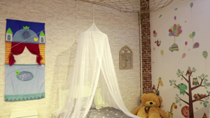 Chinese Factory Directly Hanging Growing in The Dark Stars Canopy Romantic Decorative Bed Mosquito Net