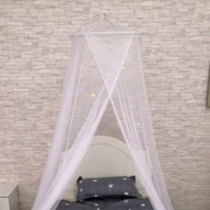 Hom Size Round Top Fabric Mesh Double Bed Canopy Mosquito Netting