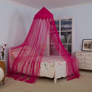 Queen Size Bed Rose Red Crown Mosquito Net for Adult&baby