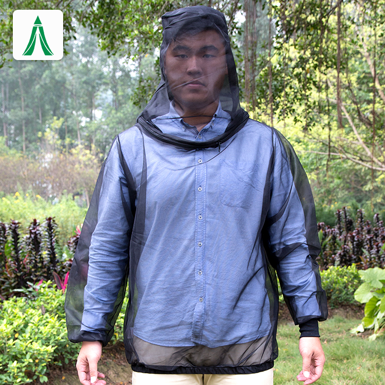 Outdoor durable polyester insect net jacket Body mosquito suit Mosquito Net Bug Jackets