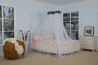 Mosquito Net Bed Canopy Ultra Large Bed Canopy Quick Easy Installation Feather Mosquito Net Bed