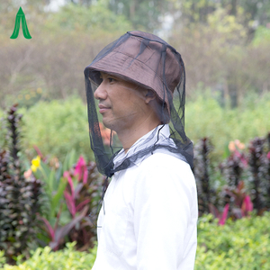 China Supplier Polyester Mesh Material Customized Color Folded Mosquito Head Net