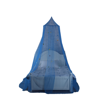 Factory Price Perfect Sewing 100% Polyester Blue Glowing In The Dark Marine Animal Mosquito Net